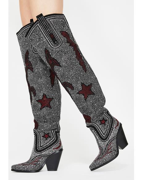 Jolee Rhinestone Cowboy Boots