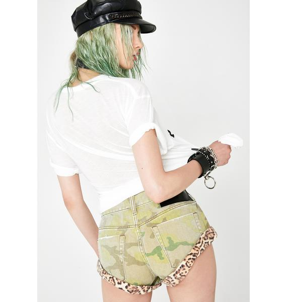 One Teaspoon Safari Bandits Denim Shorts