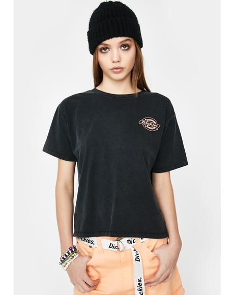 Black Logo Tomboy Graphic Tee