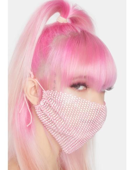 Blush Keep It Classy Rhinestone Face Mask