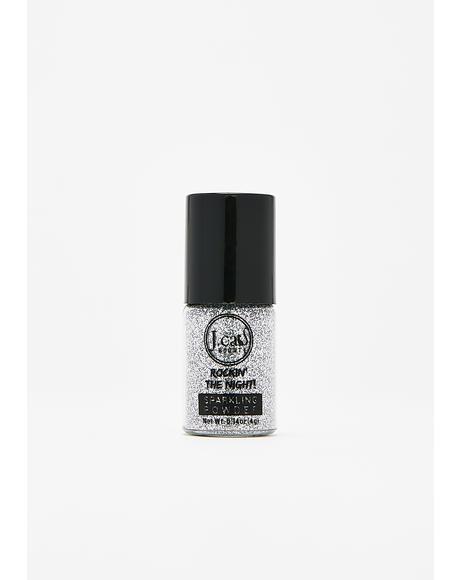 Cool Silver Sparkling Powder