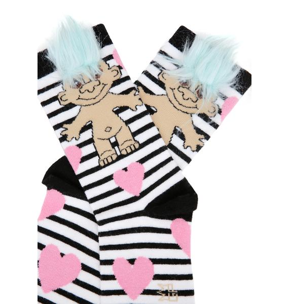 Gumball Poodle Prisoner Of Love Crew Socks