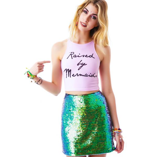 MeYouVersusLife Raised By Mermaids Crop Tank