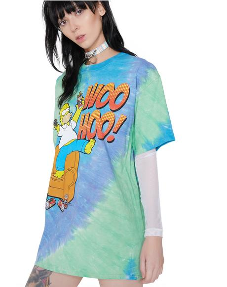 Father Knows Best Tie Dye Graphic Tee