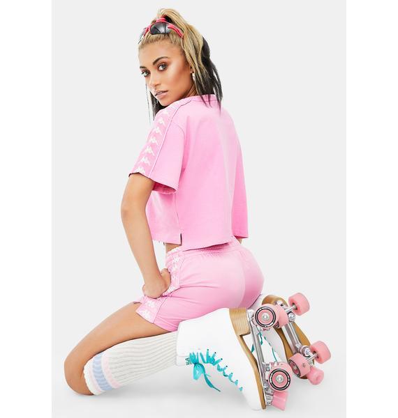Kappa Pink 222 Banda Apua Crop Tee