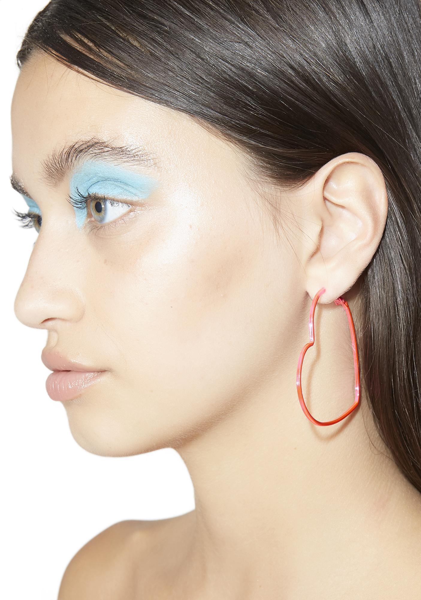 Bubblegum Can't Buy Me Love Hoop Earrings