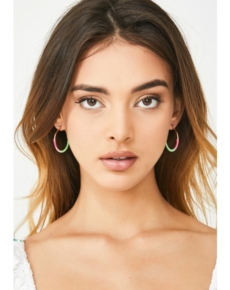 Sugar Goin' Steady Hoop Earrings