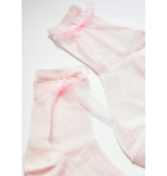 Sweet Pretty Present Knit Socks