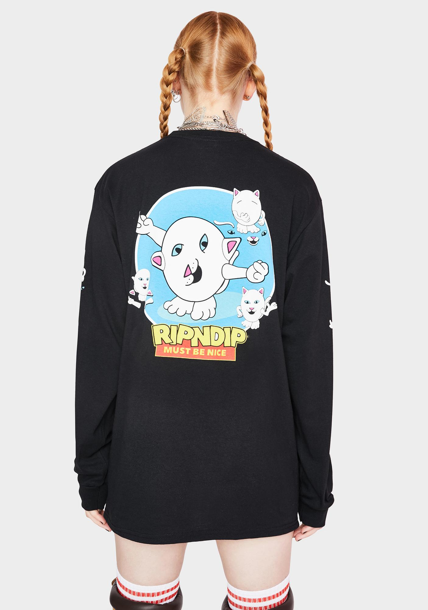 RIPNDIP Nerm Story Long Sleeve Graphic Tee