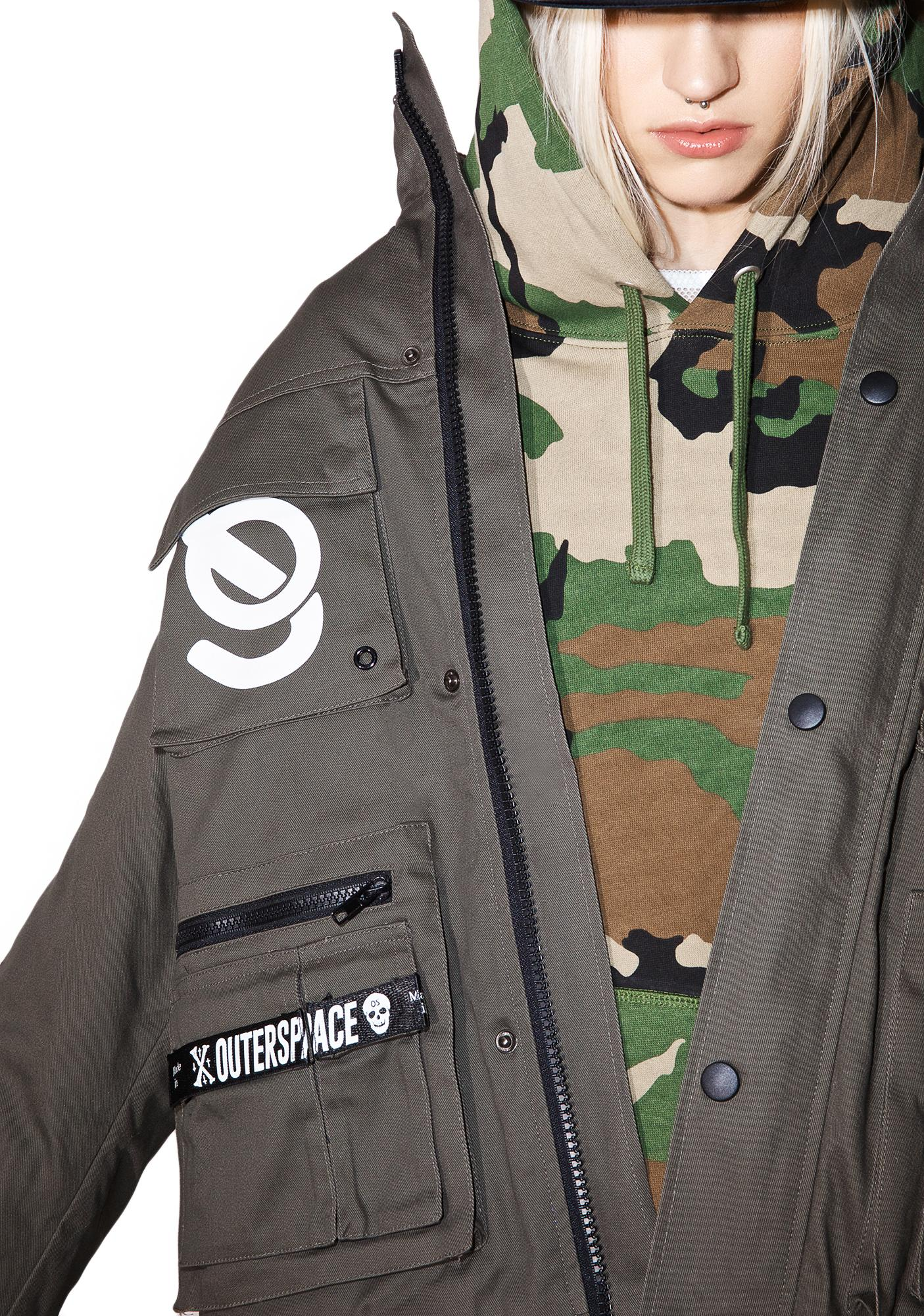 Outerspace OS Army Military Jacket
