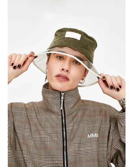 Corduroy PVC Bucket Hat