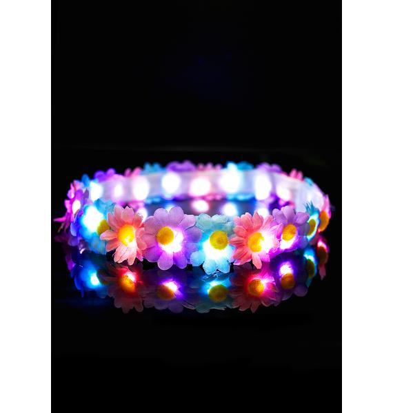 Pastel Blooms LED Headband