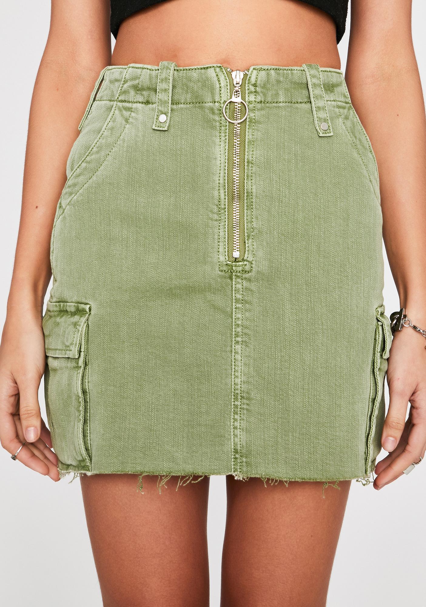 First Love Cargo Skirt