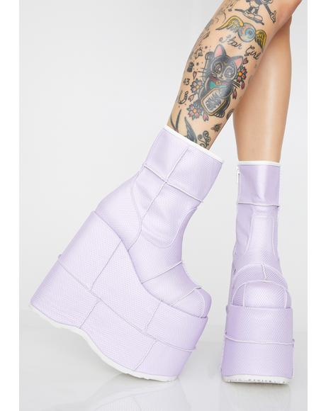 Fairy Soul Stomper Holographic Stack Boots