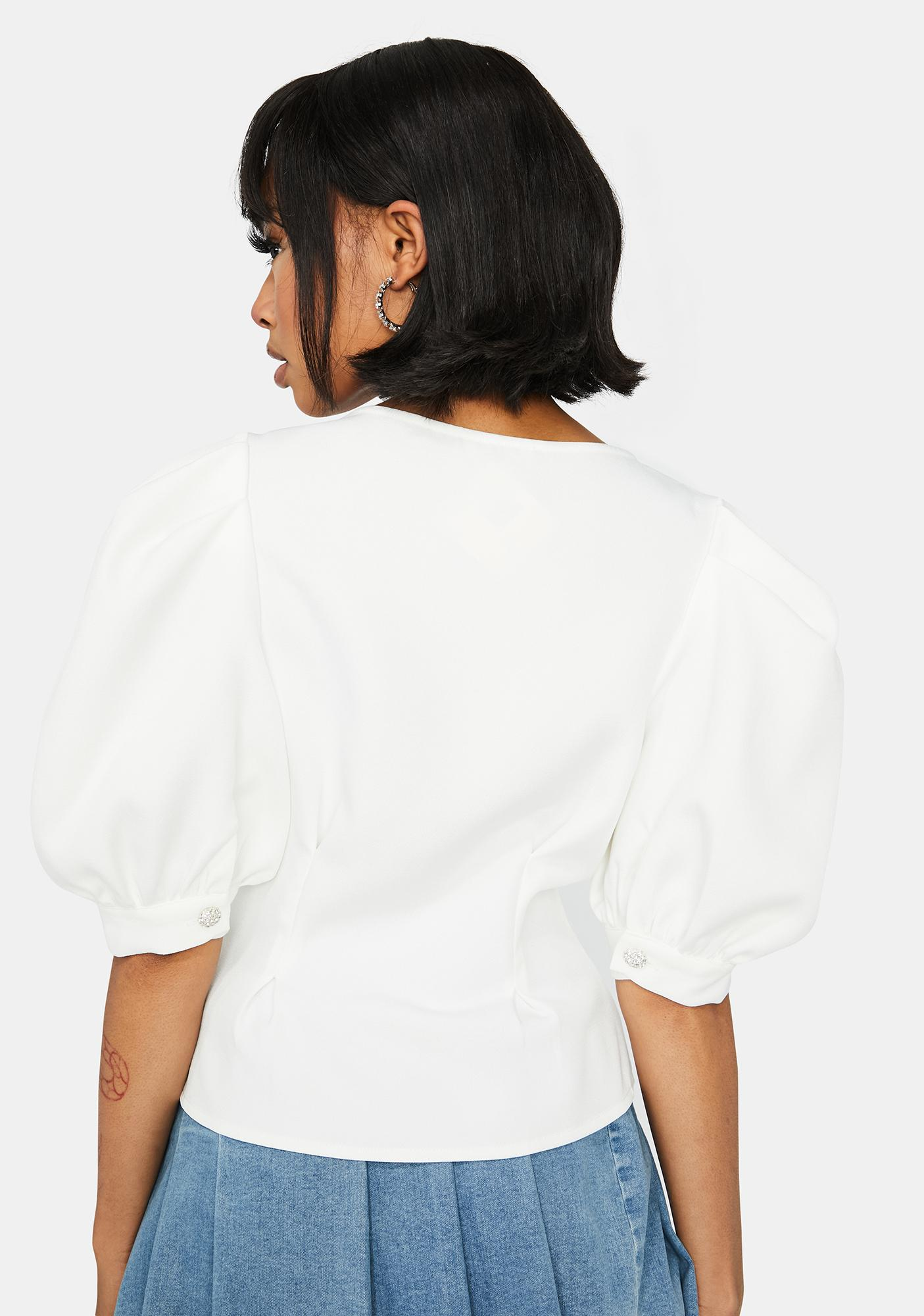 Pure Elegance Puff Sleeve Blouse