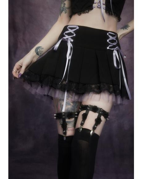 Darkness Deluxe Rose Leg Garter