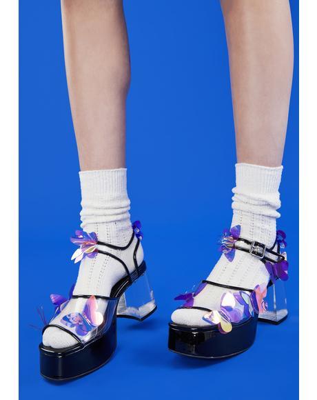 Pixie Wings PVC Heels