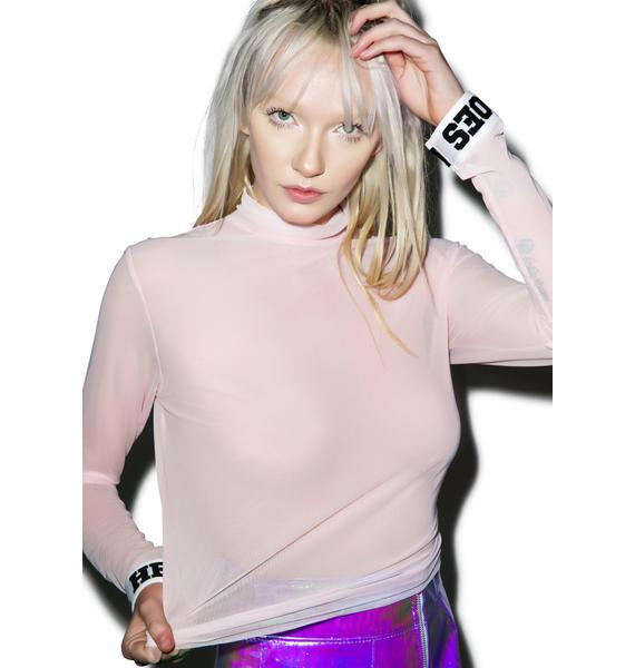 Local Heroes Mesh Turtleneck Top
