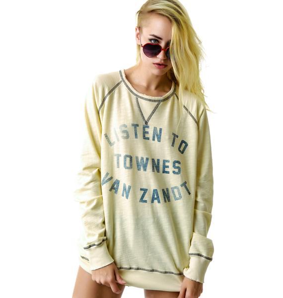 Listen to Townes Van Zandt Raglan Sweatshirt