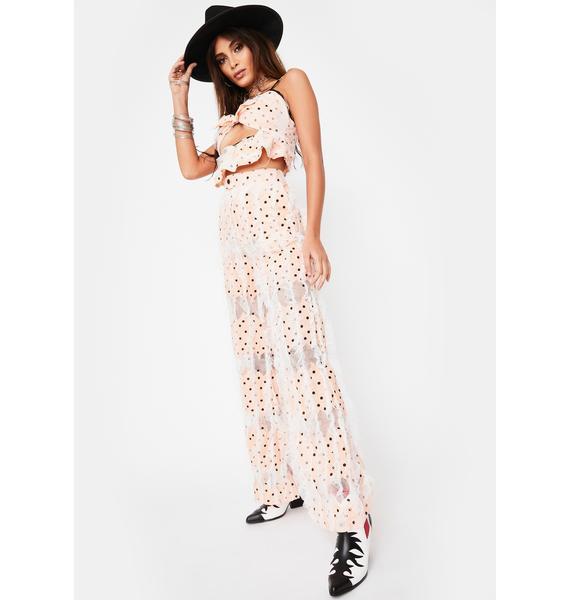 Ebonie N Ivory Spot Wide Leg Trousers