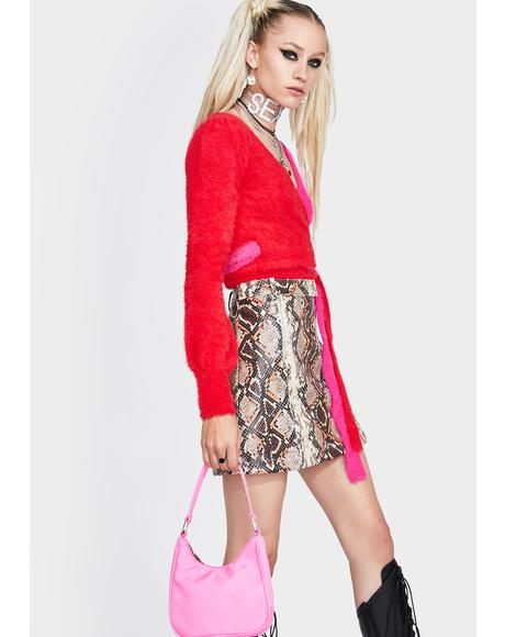 Royce Snakeskin Mini Skirt