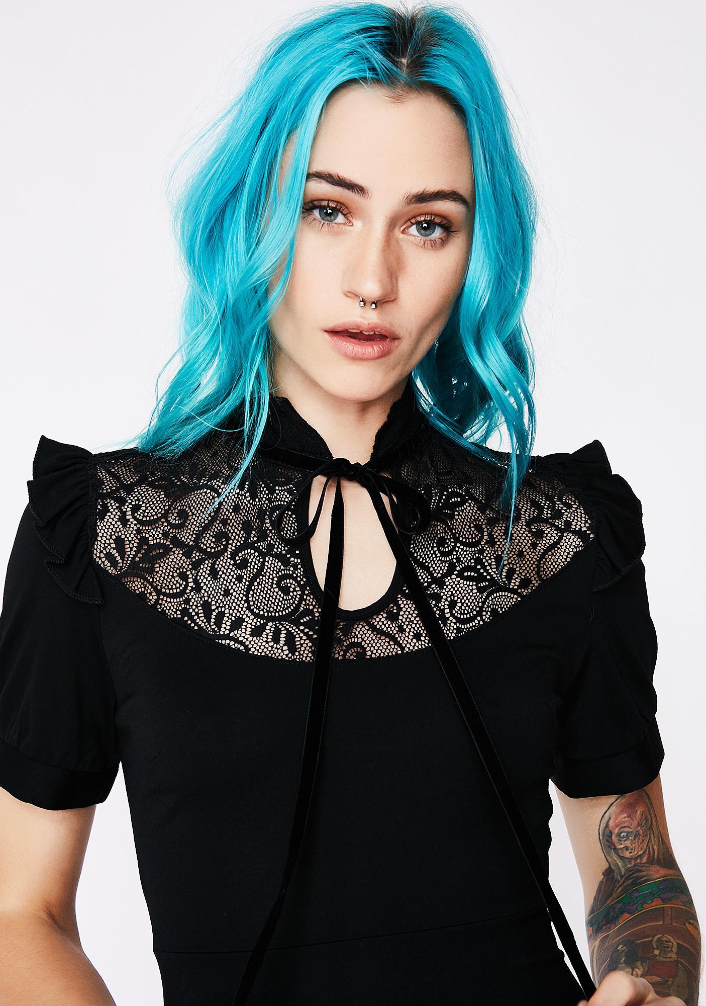 Killstar Raven Never-Ruffle Dress