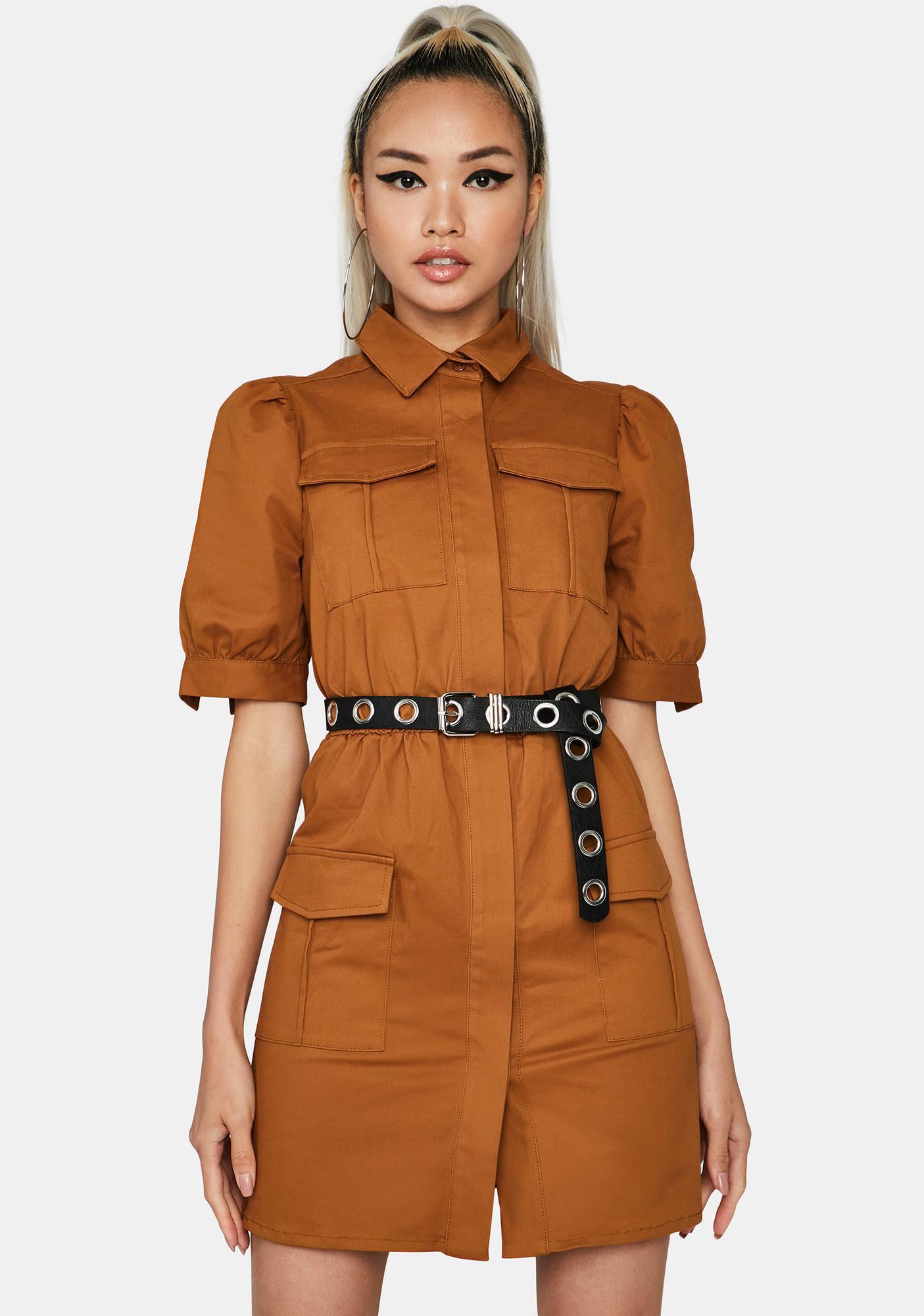 Glamorous Sandstone Utility Dress