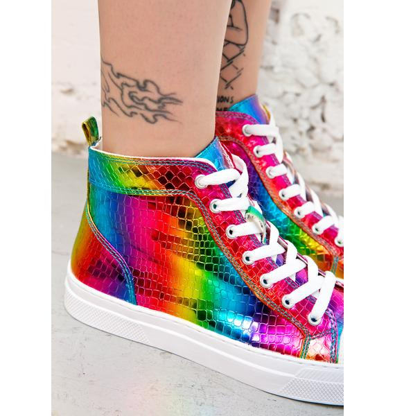 Rainbow Lover High Top Sneakers
