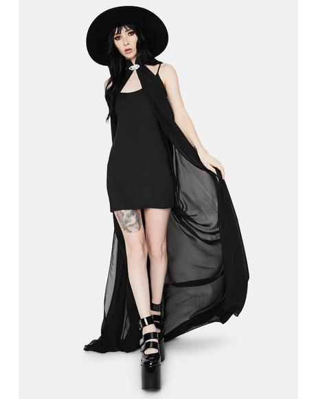 Vanish Me Sheer Sleeveless Cloak