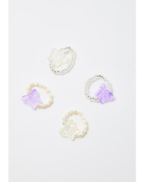 Fairy Lights Beaded Ring Set