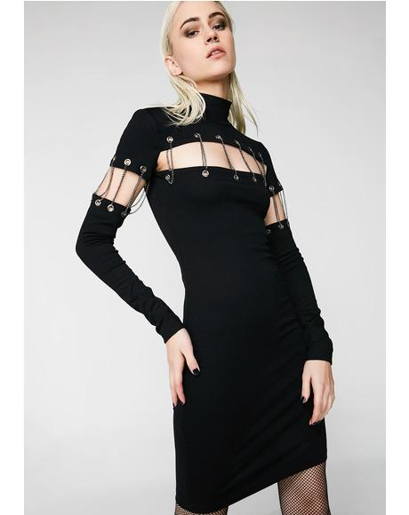 Can't Chain Me Bodycon Dress