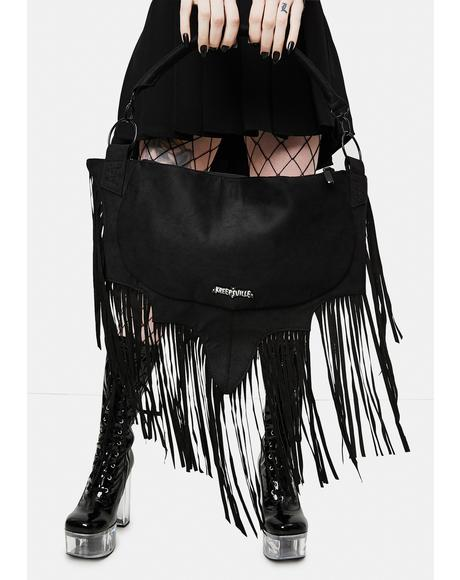 Bat Wing Fringe Shoulder Bag