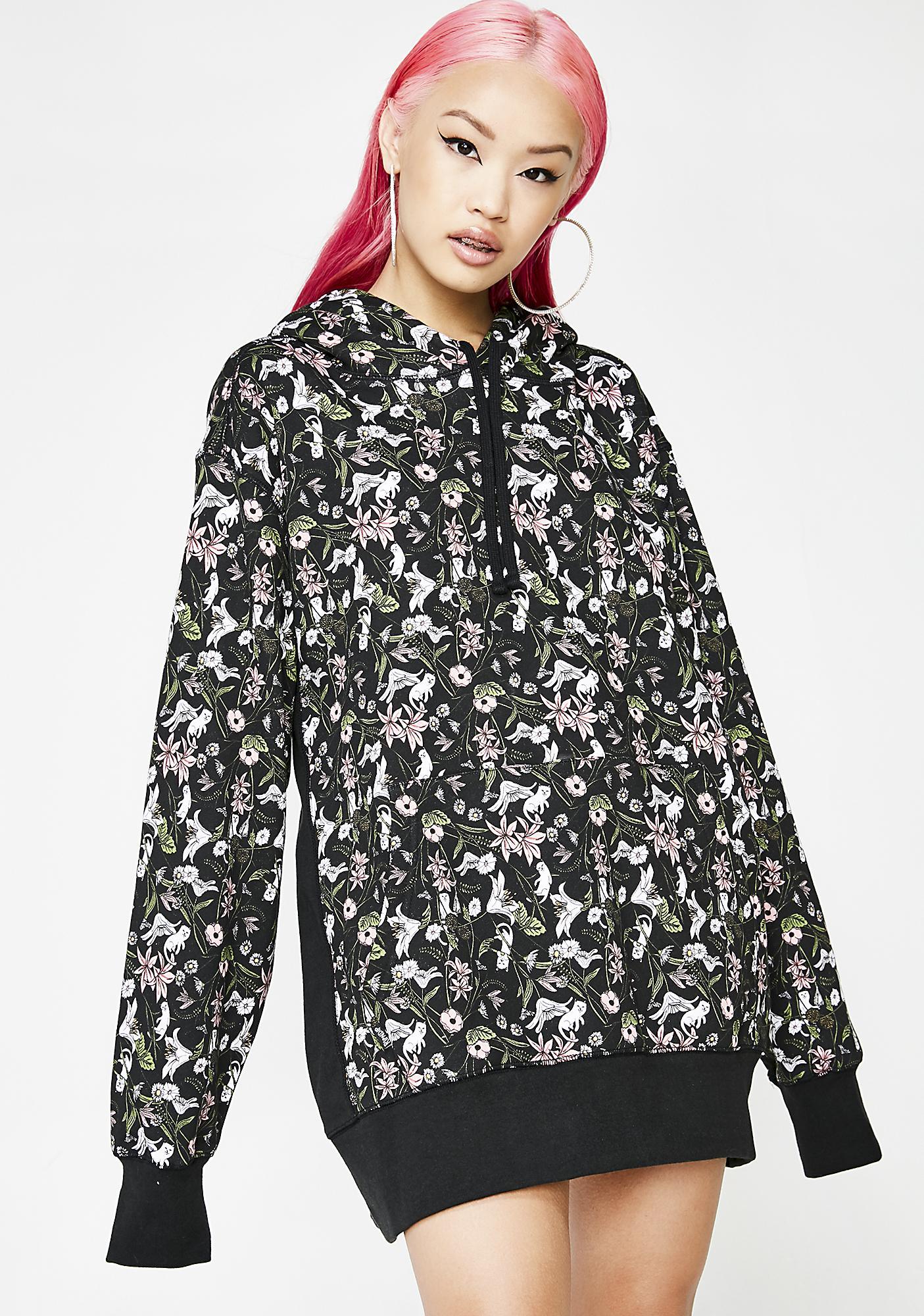 RIPNDIP Nerm Flower Pattern Pullover Hoodie