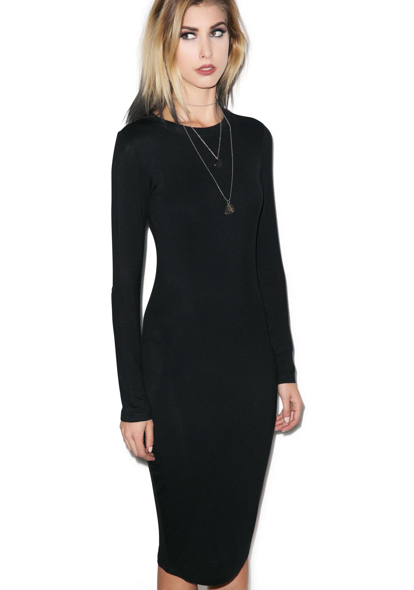 BLQ BASIQ Fo Reals Midi Dress