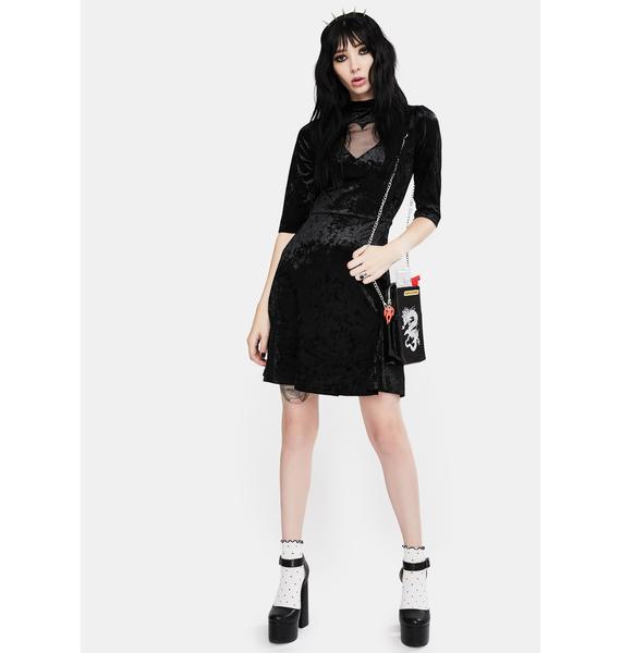 Jawbreaker Heartless Velvet Skater Dress