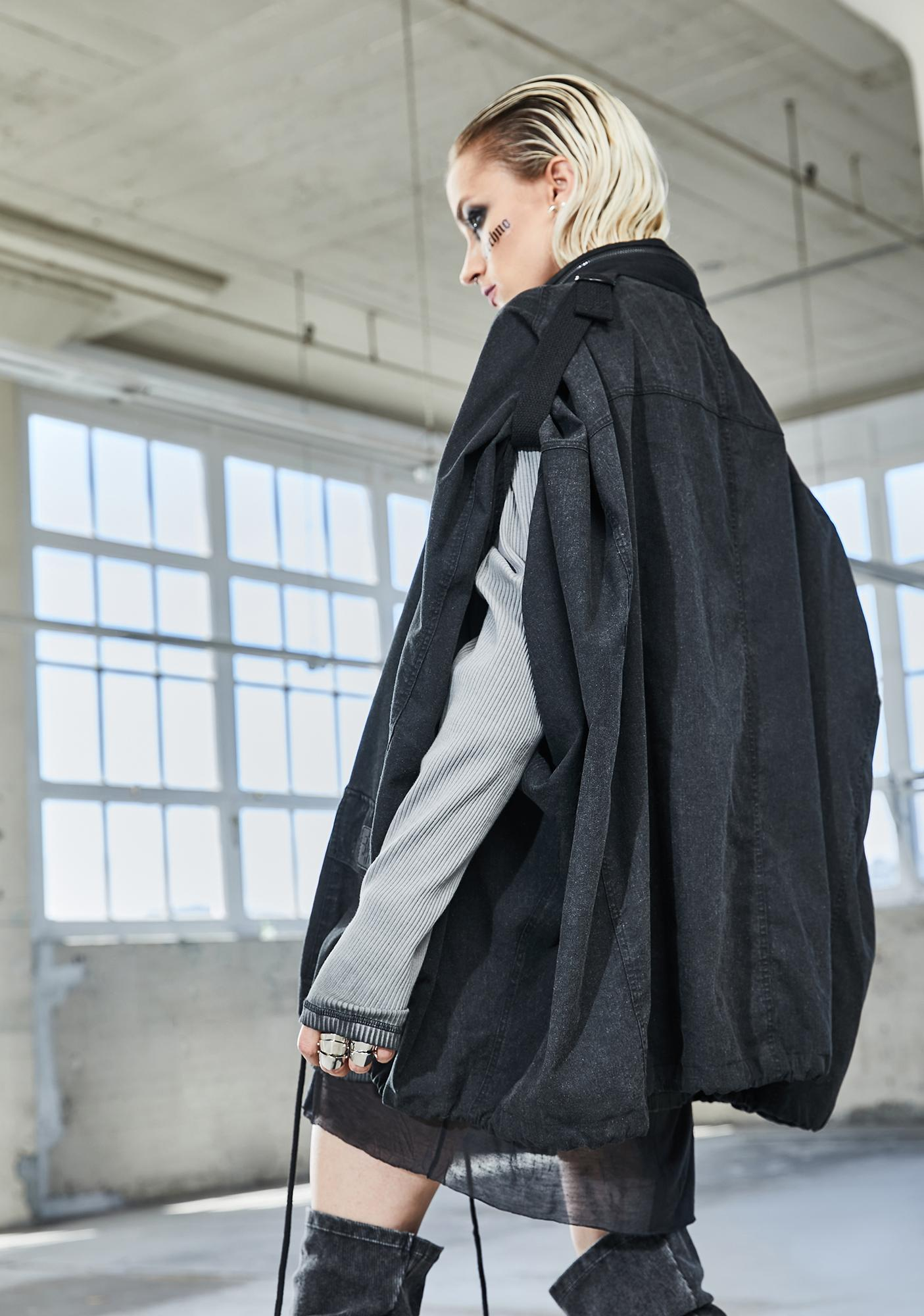 DARKER WAVS Bassline Worn Wash Anorak Jacket