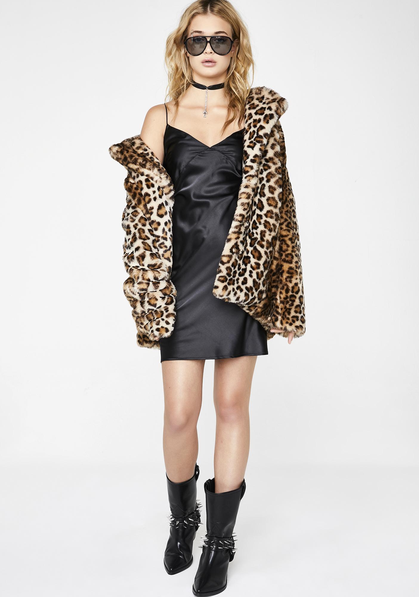 Kiki Riki Stay The Nite Satin Dress