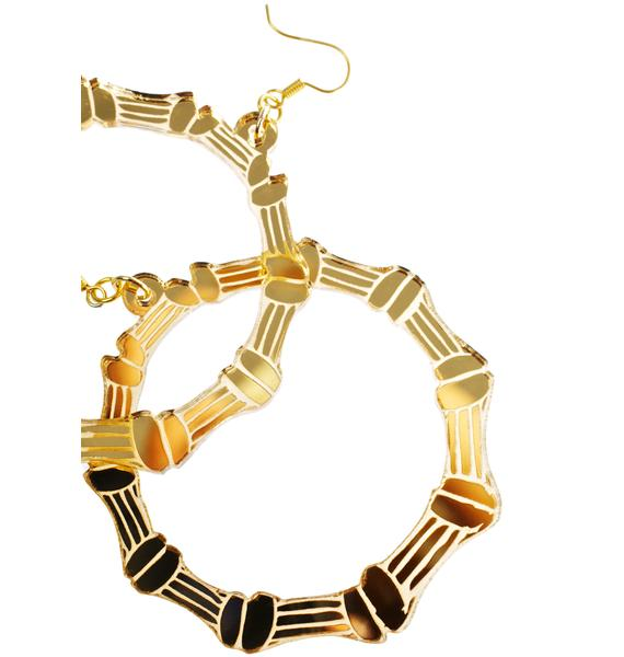 Haus of Dizzy Bamboo Hoop Earrings