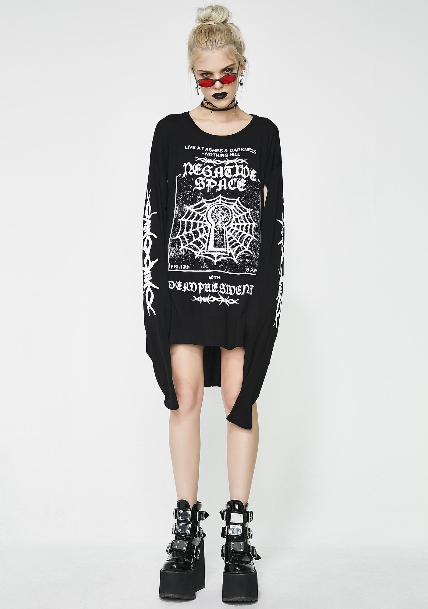 Disturbia Negative Space Cutout Tee