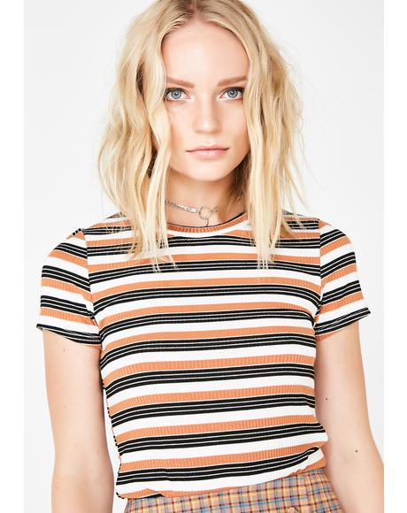Drama Queen Stripe Top