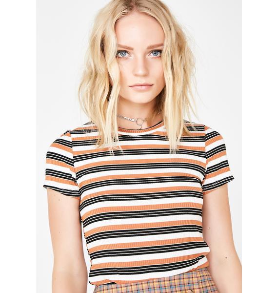 Drama Queen Stripe Top
