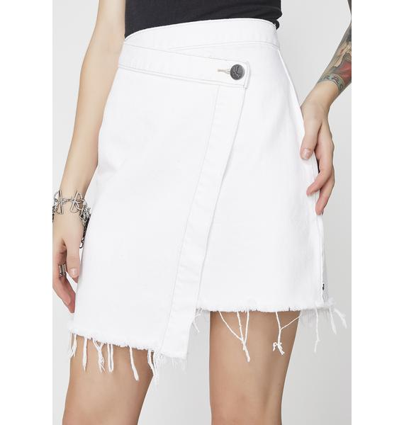 One Teaspoon Wild Thing Denim Skirt