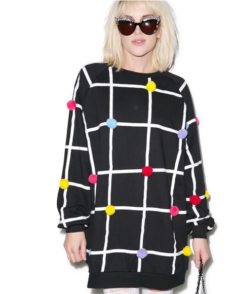Pom Grid Sweatshirt