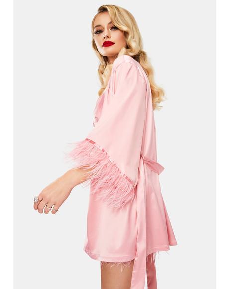Sweet Naughty Nightmare Satin Robe