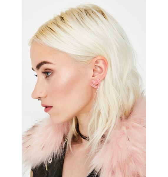 Love Game Heart Earrings