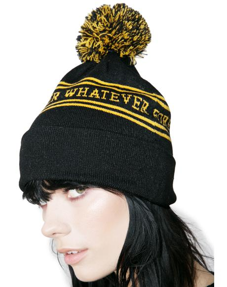 Forever Whatever Pom Beanie