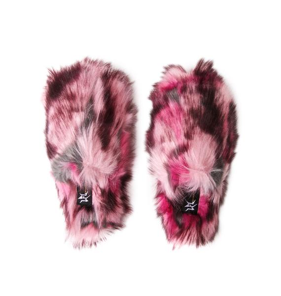 Lust For Life Sugar Spin Fuzzy Slippers