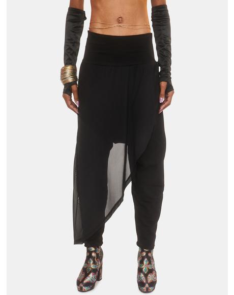 Age Of Elegance Draped Sweatpants
