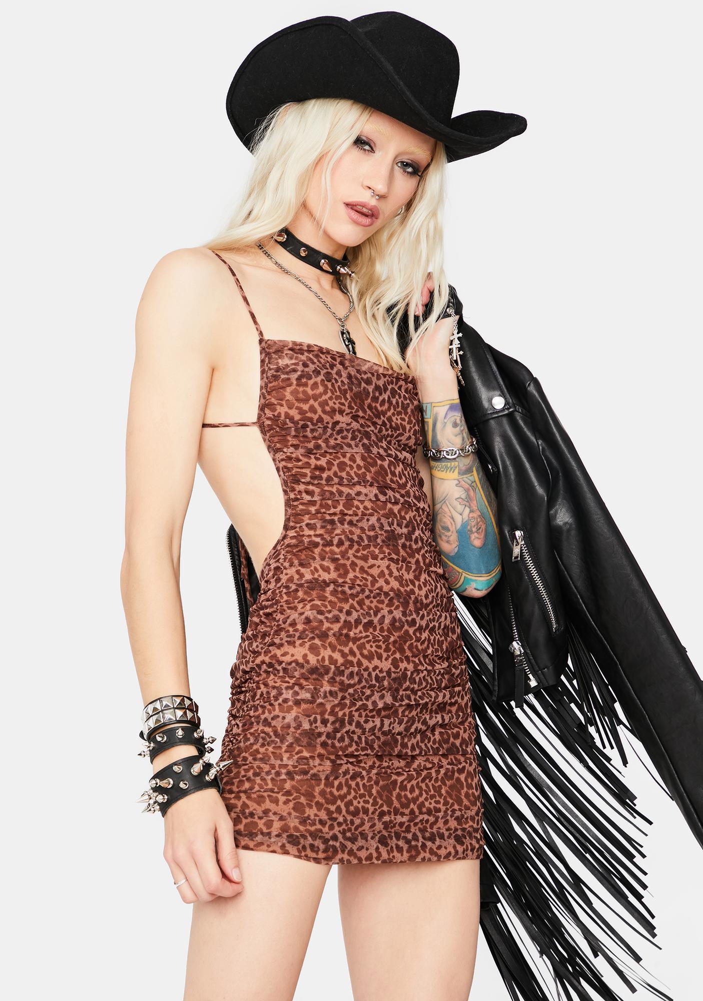 Play With Me Leopard Print Mini Dress