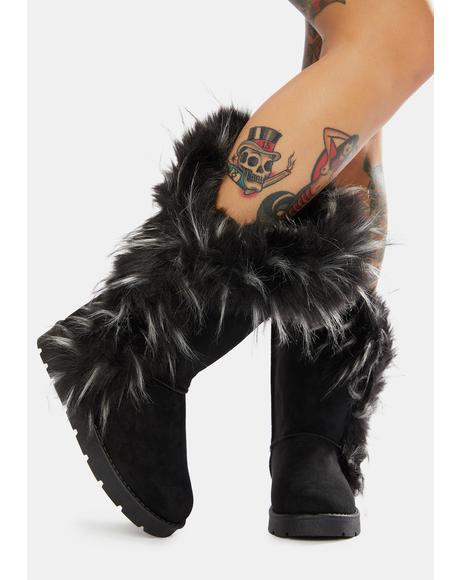 Cuddle Monster Faux Fur Boots